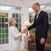 Meeting Hillary Clinton in the Hamptons (this photo does not represent my political views)
