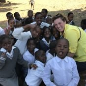 Nkomo School with Mrs. Plumlee