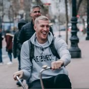 Mason on Bike